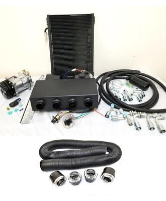(Universal Underdash Air Conditioning AC Evaporator Heat Cool Kit + Vents & Duct)