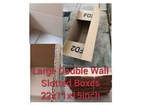 Boxes new large double walled cardboard boxes
