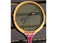 £10 Vintage Slazenger 'The Dart' Squash Racket Original Wooden Frame Bargain
