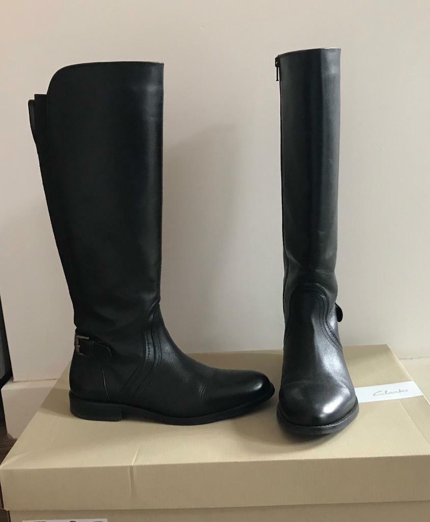 d20db17c322 Clarks black boots. Derby ...