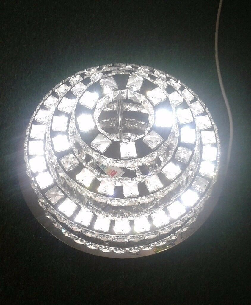 STUNNING 3-TIER CHANDELIER LED CEILING LIGHT - WAS £400 NOW ONLY £195