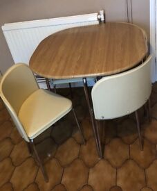 Space saving kitchen table and chairs