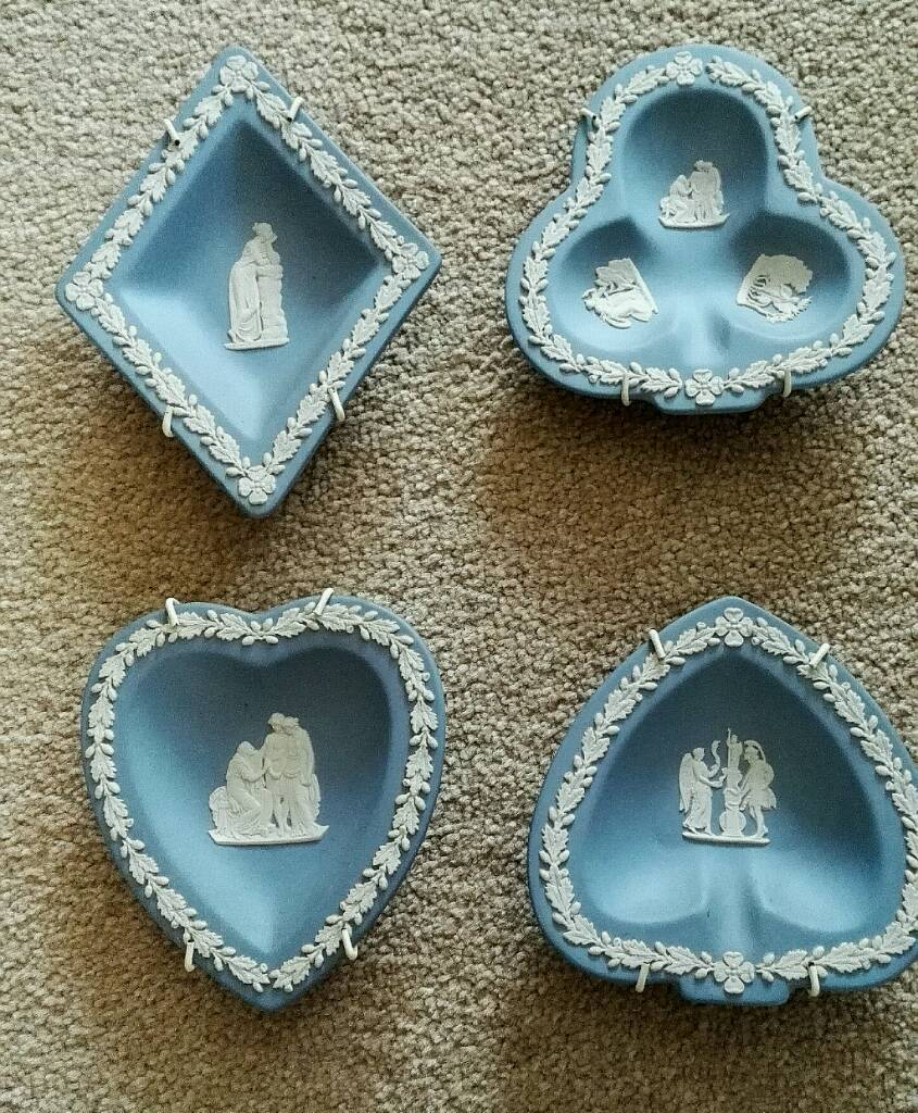Wedgewood Set Of Four Cards dishes.