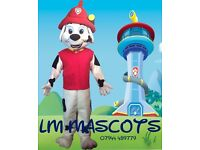 PAW PATROL MASCOT COSTUMES FOR HIRE
