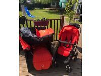 Bugaboo Cameleon 3 with black Chassis and Accessories