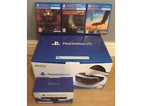PS4 VR headset, camera and 3 games bundle - excellent condition