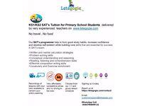 Calling all KS1 and KS2 Parents - Get SAT's Tutoring home delivered.