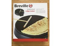 Breville Traditional Electric Crêpes and Pancakes Maker, Unused