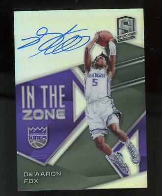 2018 Panini Spectra In the Zone De'Aaron Fox 36/75 Auto Autograph
