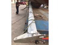 Huge sailing boat mast alloy