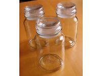 Douwe Egberts empty glass coffee / storage jars