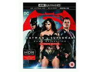 Blu-ray and 4k Batman v Superman: Dawn of Justice (Ultimate Edition 4K Ultra HD Blu-ray) [2016]