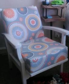 Revamped small bedroom armchair