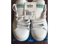 Adidas Stan Smith 11 White and Green Trainers
