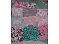 Next girls first size sleepsuit bundle.