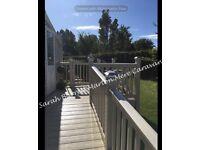 ⭐️ Marton Mere Caravan Hire dg&ch with decking and ramp sleeps 6 (3 bedrooms) ⭐️