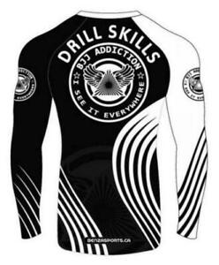 BJJ Addiction Rash Guard Long Sleeves , Compression wear Only @ BENZA SPORTS