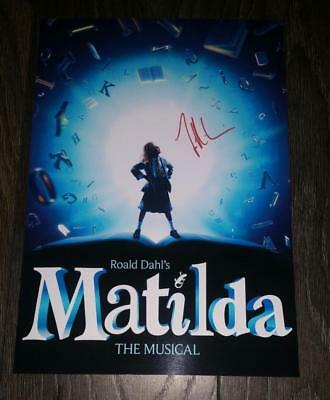"MATILDA - THE MUSICAL PP SIGNED PHOTO POSTER 12""X8"" A4 TIM MINCHIN"