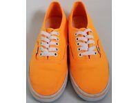 Women's Size 3 Vans Trainers - Bright Orange