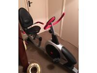 'Recumbent' Exercise Bike - Very Sturdy with full computerised stats