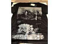 BRAND NEW - Mens Slim Fit Black ARMANI JEANS T-SHIRT / Armani Logo Designer Shirt
