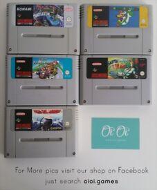 Super Nintendo SNES games for sale