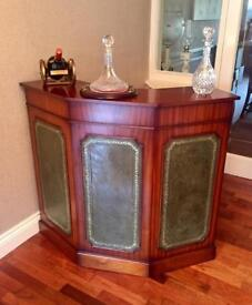 Solid Rare Antique Style Mahogany Wine/Drinks Bar