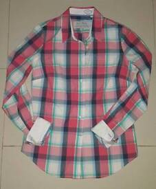 Jack Wills ladies classic fit checkered shirt, UK 10