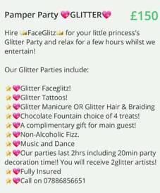Facepaint& Glitter Parties