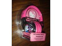 Hello Kitty Headphones by Sakar Foldable 90-degree swivel