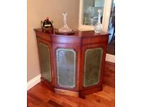 Solid Rare Antique Style Mahogany Wine/ Drinks Bar