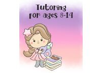 Tutoring for ages 8-14