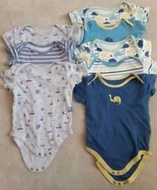 9-12 month short sleeved vests