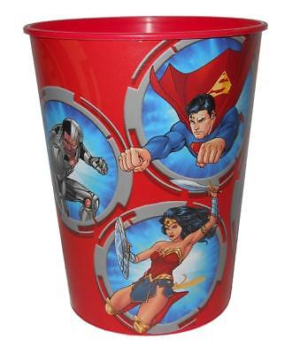 Justice League Red Keepsake Stadium Party Favor 16 oz Cup Birthday Supplies - Justice League Birthday Party