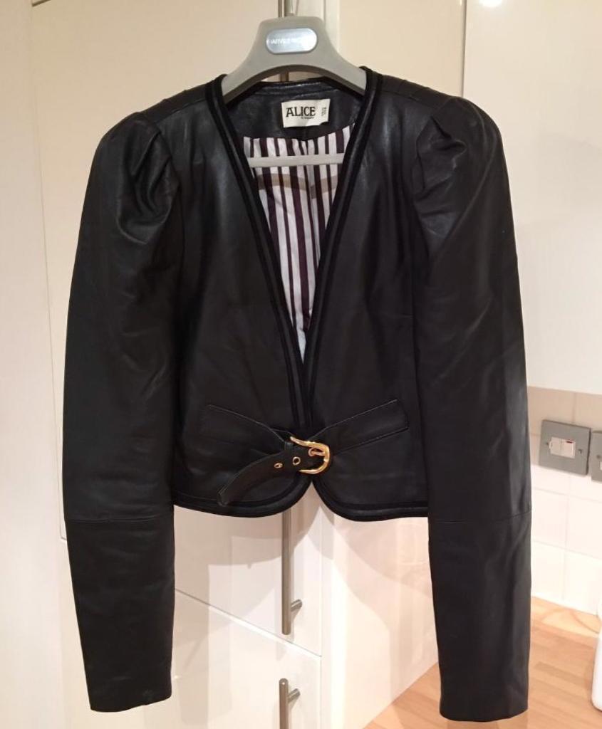 Alice Temperley Leather Jacket UK 12