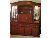 DISPLAY AND DRINKS CABINET in Cherrywood made by John E Coyle