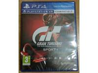 PS4 game, Gran Turismo Sport, brand new sealed.