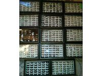 Wholesale stainless steel rings 14 tray approx 494 PCs