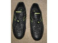 Diadora 'Ruck' rugby boots, black, UK size 10