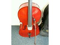 Stentor Student II 4/4 cello with Aubert Bridge. Revised this month. Open to sensible offers.