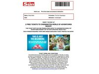 4 X CHESSINGTON WORLD OF ADVENTURES 18TH JULY - £70