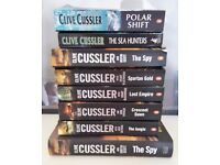 8 x Books by Clive Cussler - New & Used Conditions - Paperback & Hardcover