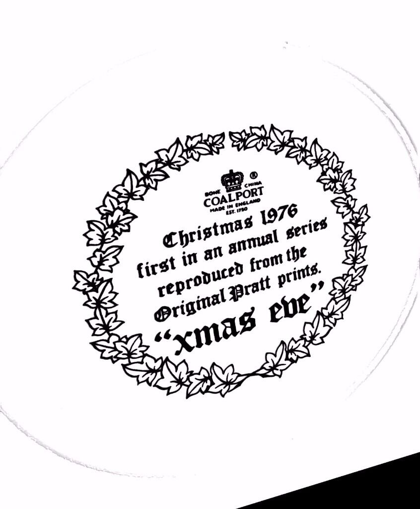 Coalport Christmas Collectors Plates 1976 1981 (6) Unmarked in Boxesin York, North YorkshireGumtree - Six Coalport Collectors Christmas Plates 1976 1981. All are perfect and unmarked and have been stored in original boxes since purchase