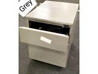 Office Filing Pedestal Cabinet File Office 2 Drawers Chest Lockable Under Desk