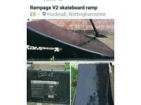 Rampage V2 skateboard ramp