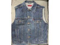 Levis Dark Navy Blue Vest / Sleeveless Jacket (Large)