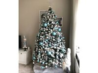 Blue & Silver Christmas Tree Baubles