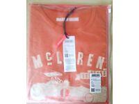 McLaren Official Racing T-Shirt Small (NEW) + Gift Zip Bag