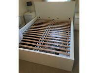 White King Size High Bed Frame (MALM by Ikea). As New! Perfect Condition!