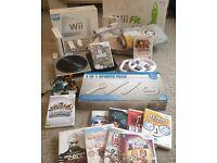 MASSIVE BUNDLE - Wii Console + Skylanders + Wii Fit Board + Games + DJ Hero Turntable + More Toys
